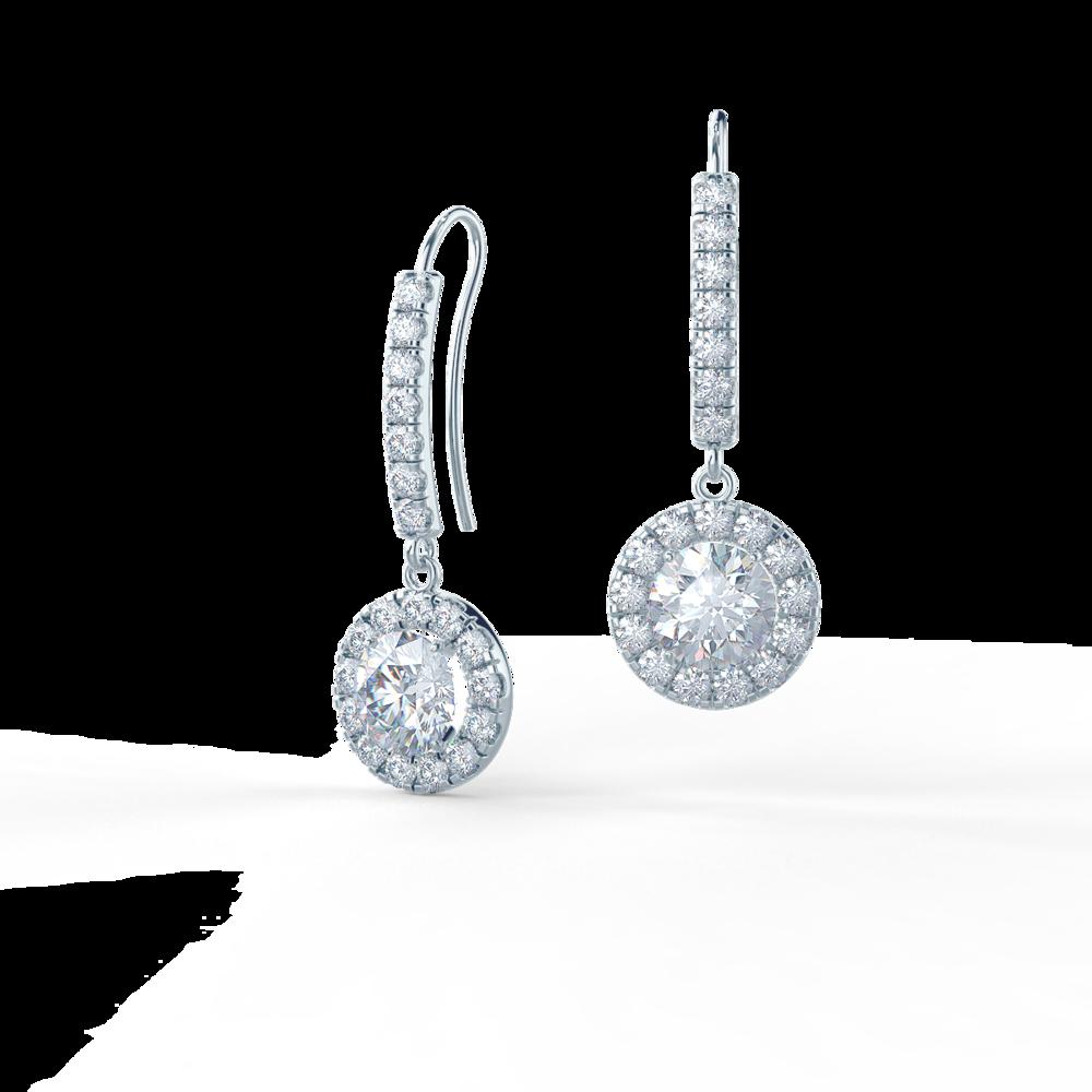 Heavenly Single Halo Earrings