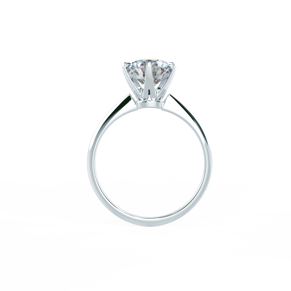 Lab diamond Tiffany setting solitaire front