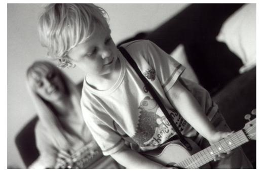 How did that get there?! My boy rocking out as a nipper...