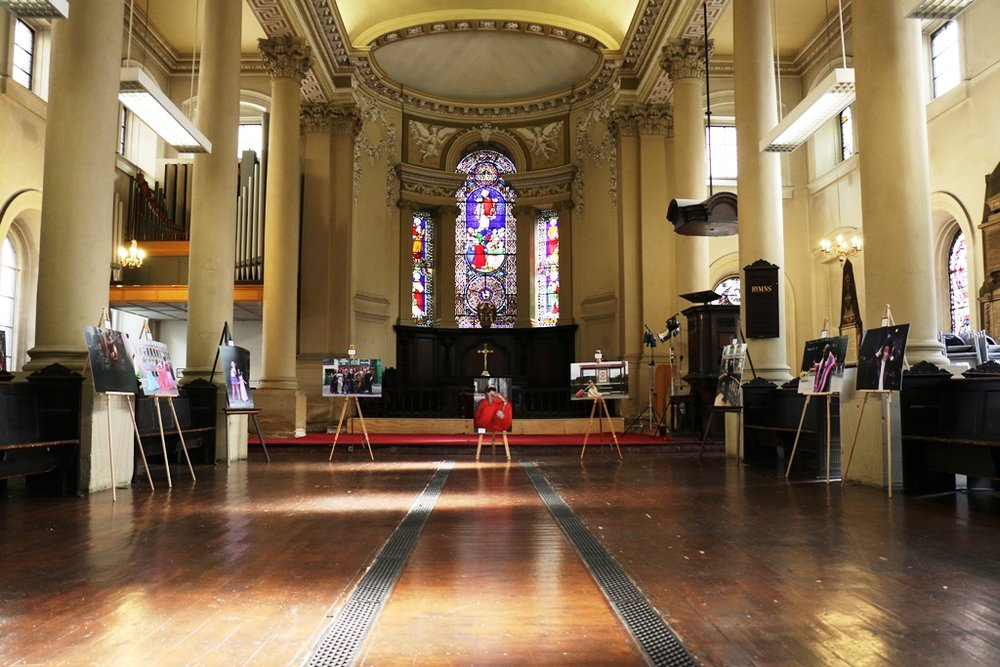 Exhibition inside Holy Trinity Church
