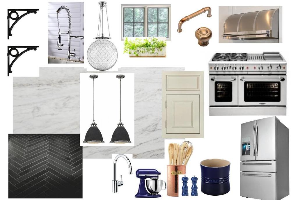 My kitchen moodboard.