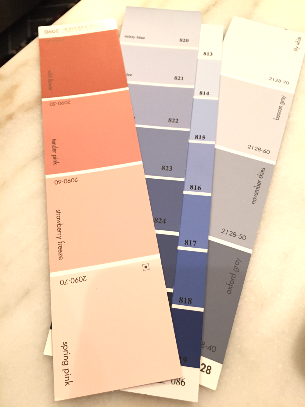 Benjamin Moore color card