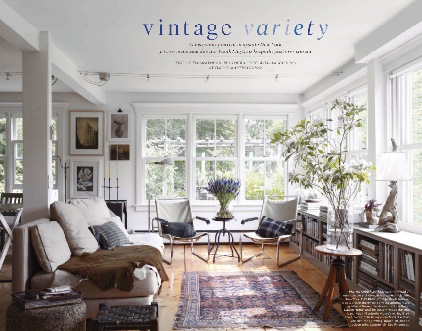 The abode of Frank Muytjens of J. Crew. Credit: Elle Decor via 12 Chairs