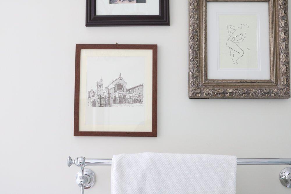 Vintage-church-framed-print