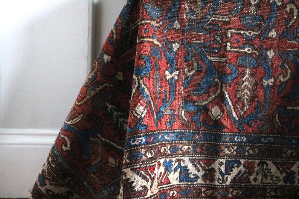 Turkish-rug-draped