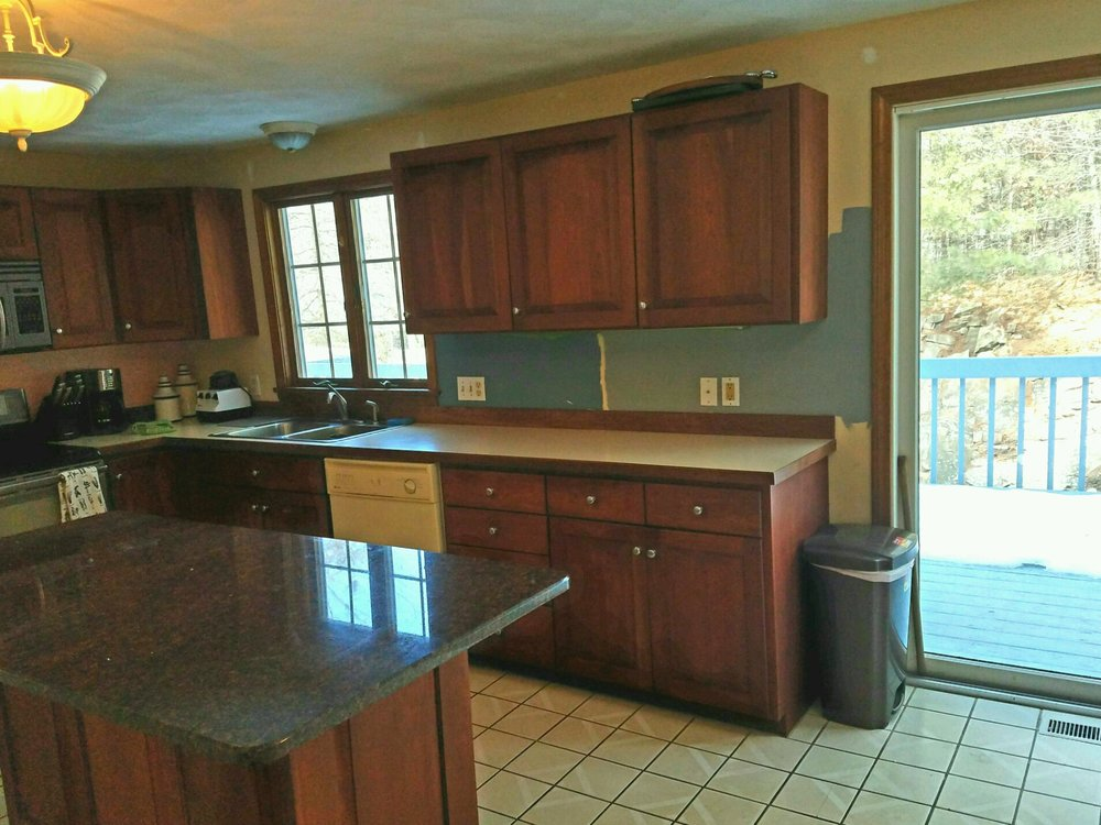 The pre-renovation kitchen.