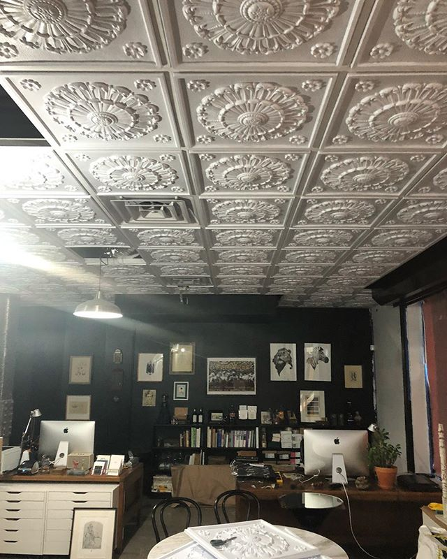 Almost done... @coeurnoirspecialtyprinters @openseadesignco #designbuild