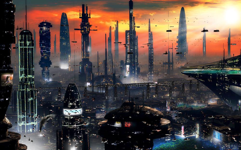 """Afterlight Skies - A StarWars sagaby ErinListenWatchImage: """"Future City Wallpaper,"""" unknown"""