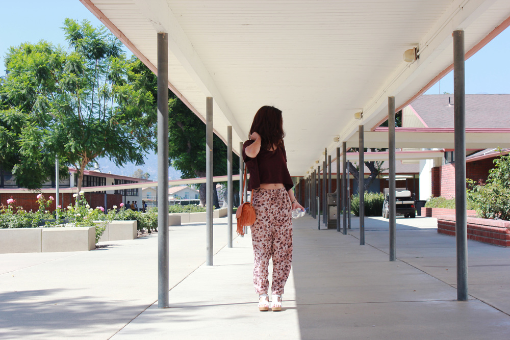 Frances Huynh in the courtyard of Arroyo HIgh School.