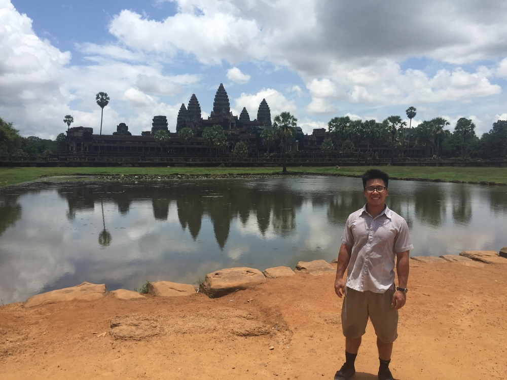 David Huynh in Angkor Wat.