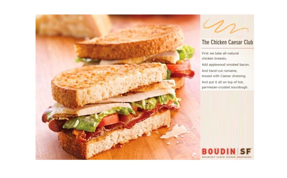 Boudin SF Chicken Caesar Club