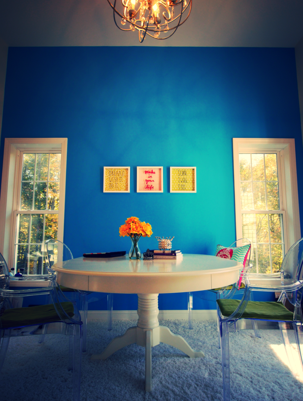 I\u0027ve done this in my own home office/study. (Pictured below) I couldn\u0027t resist the energizing color especially a statement with 11 ft ceilings. & My Brilliant Lifestyle