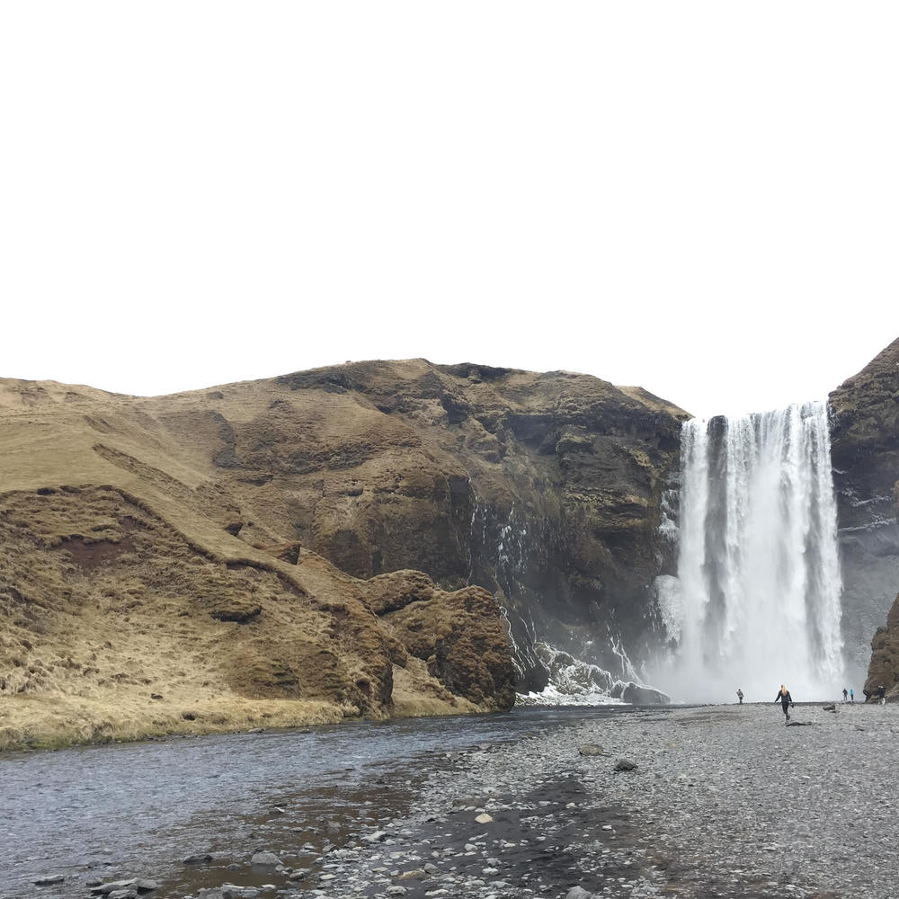 Skogafoss on the southern coast of Iceland.