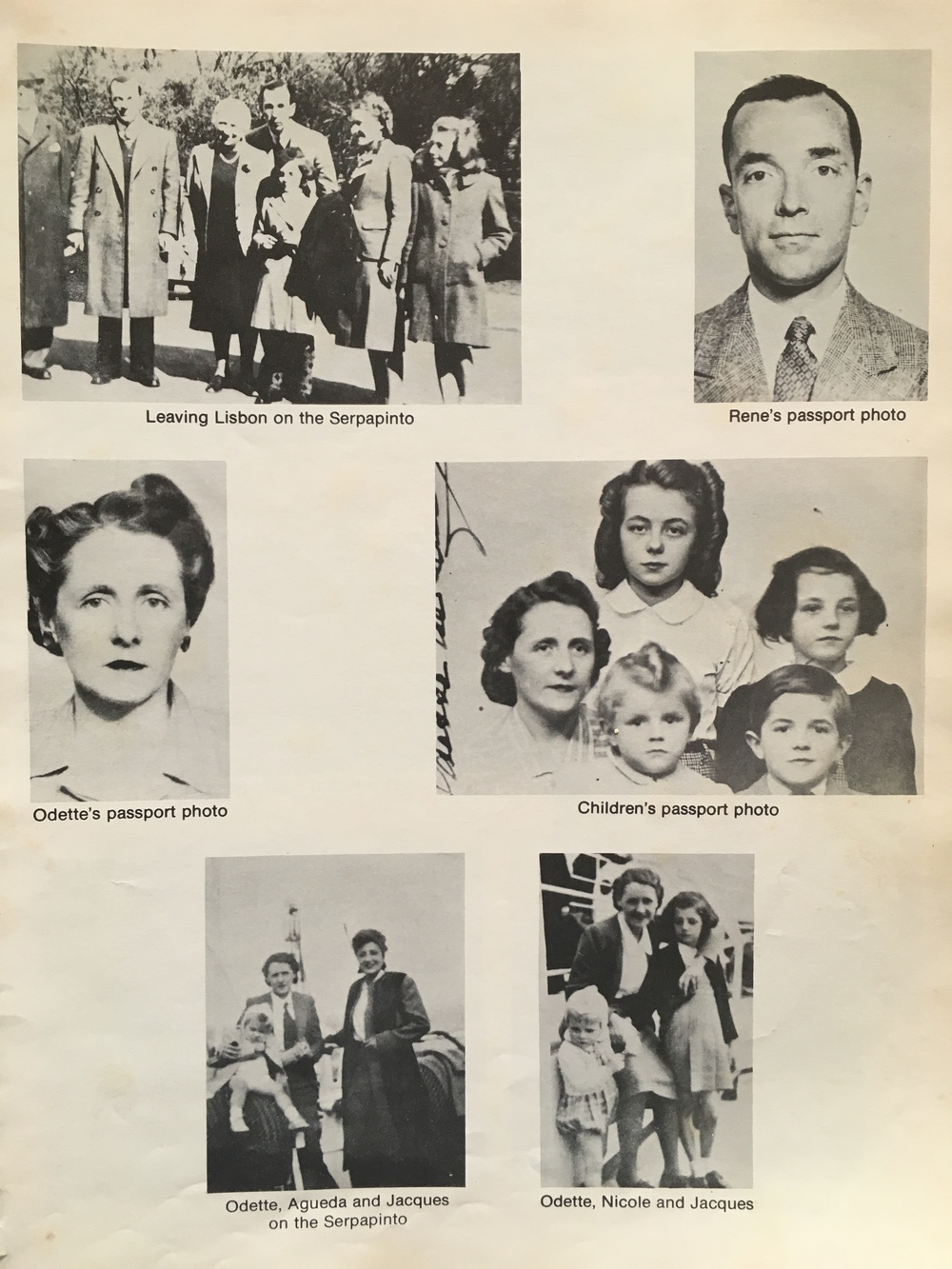 Photos of my grandfather's departure from Europe. He's the dapper little boy with the comb-over in the middle row of photos.