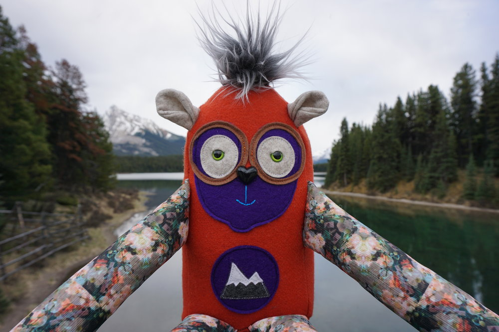mountains & monsters, mountains and monsters, jasper, jasper alberta, jasper national park, designer toys, plushie