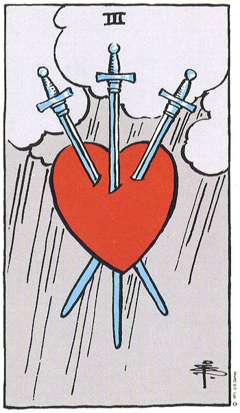 three of swords, tarot, rider waite, wild unknown, susan miller, canadian creatives