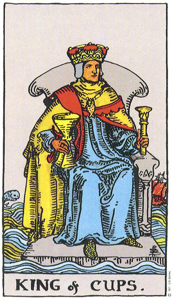 king of cups, rider waite, tarot, astrology, the kitten life, the universe