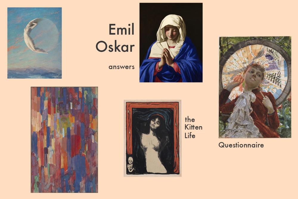 emil oskar, daily paintings, the kitten life, canadian creatives
