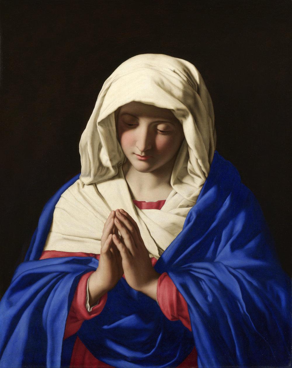 Sassoferrato - The virgin in prayer (1640-1650)