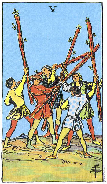five of wands, rider waite, susan miller, the kitten life, march 2018 astrology, zodiac, monthly horoscope