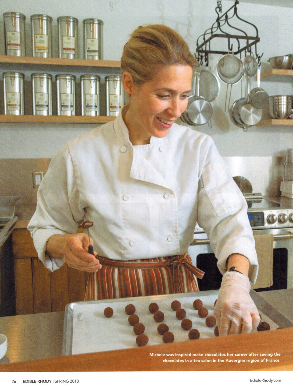 Michele was inspired to make chocolates her career after seeing the chocolates in a tea salon in the Auvergne region of France.
