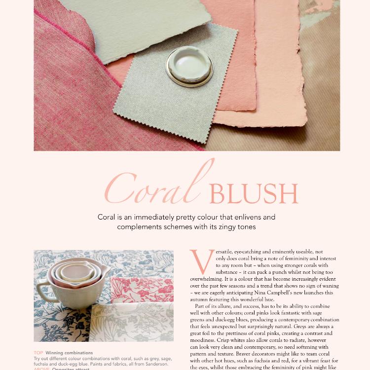 Mistletoe & Ivy fabrics, English Home, September 2016