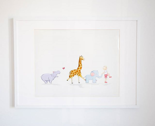 A piece called Penny on Parade.  Available in our digital shop tomorrow! #instashop #comingsoon #illustration #decoration #animals #elephant #giraffe #hippo #girl #gift #decor #nursery #inspiration #create #sneakpeek #soexcited #cantwait #staytuned #follow #nurserydecor #nurseryart #thelovelylittlenest #digitalart #art #artwork