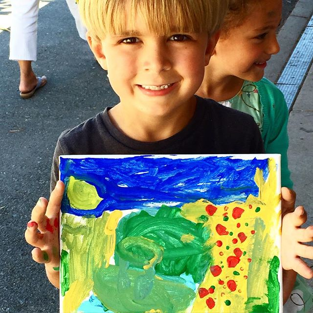 Abstract landscapes by kinders today. I could live in that world! #kindergarten #art abstract #cute #creativity #sananselmo #doodlebug #doodlebugmarin