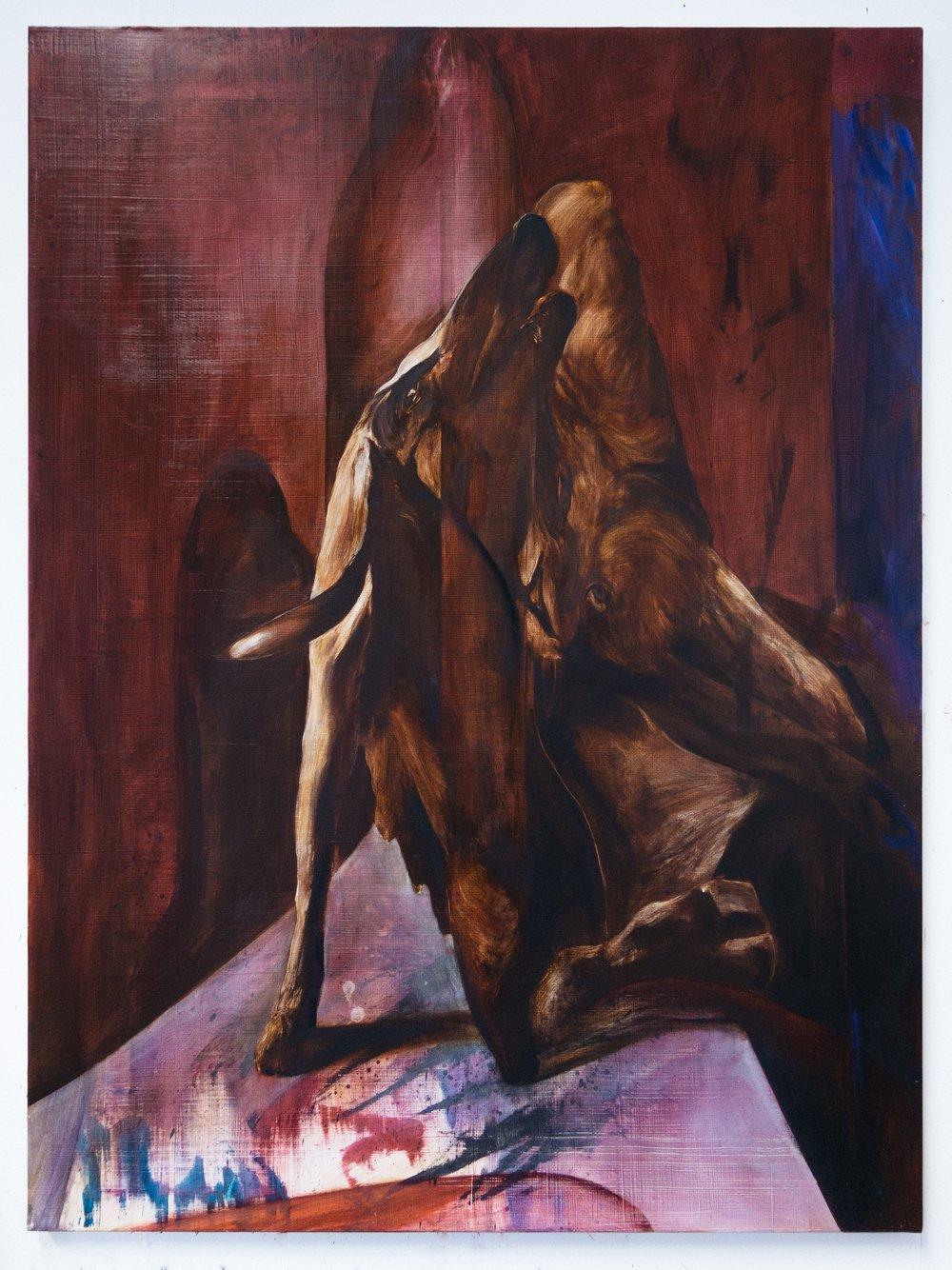 Diptych pt. 2: Virtue , 2017  Oil on canvas  120 x 100 cm
