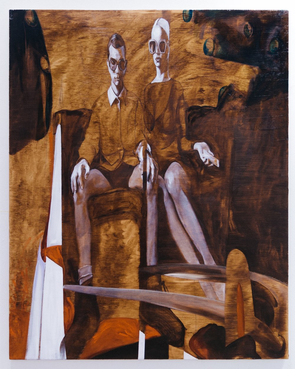 American Gothic , 2017  Oil on canvas  100 x 80 cm