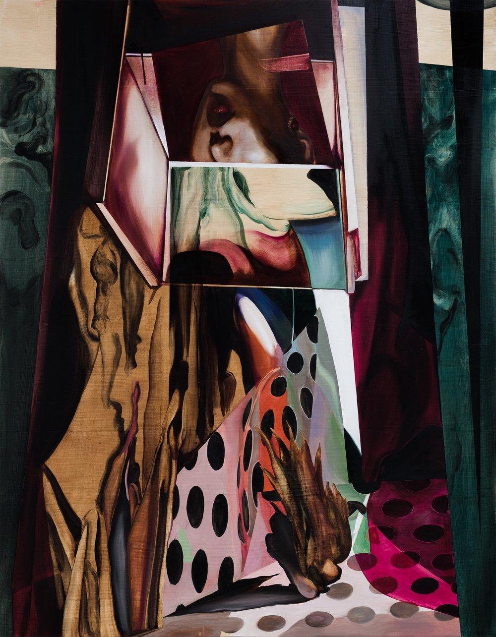 Images/ reflets dans l'eau , 2017  Oil on canvas  90 x 70 cm