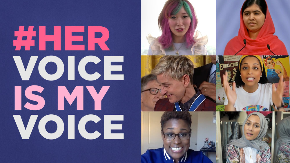 YouTubes #HerVoiceIsMyvoicecampaign