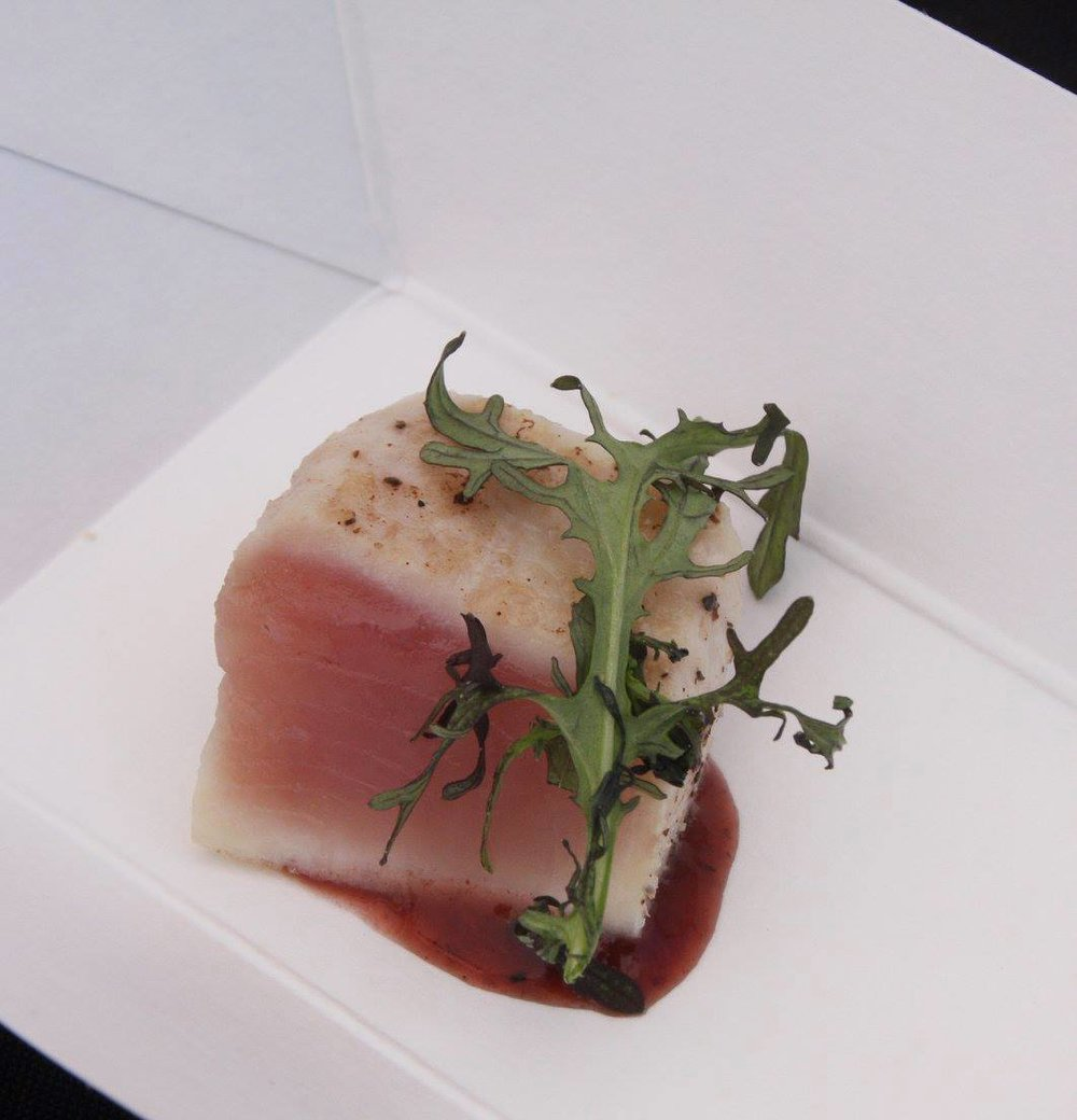 Foodie Fest Encinitas 2016 Chef Davin Waite seared albacore with strawberry bbq.jpg