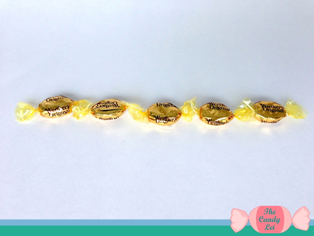 Werthers Candy Lei Tutorial Step 2