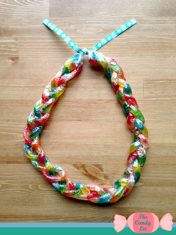 Finished Gummy Worm Candy Lei