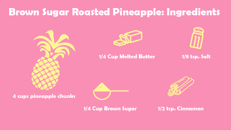 This Brown sugar roasted pineapple looks like the perfect   side for a luau.
