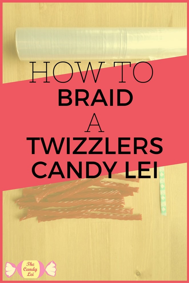 How to Make a Twizzlers Candy Lei. This braided candy  lei is the perfect thing to celebrate a graduation.