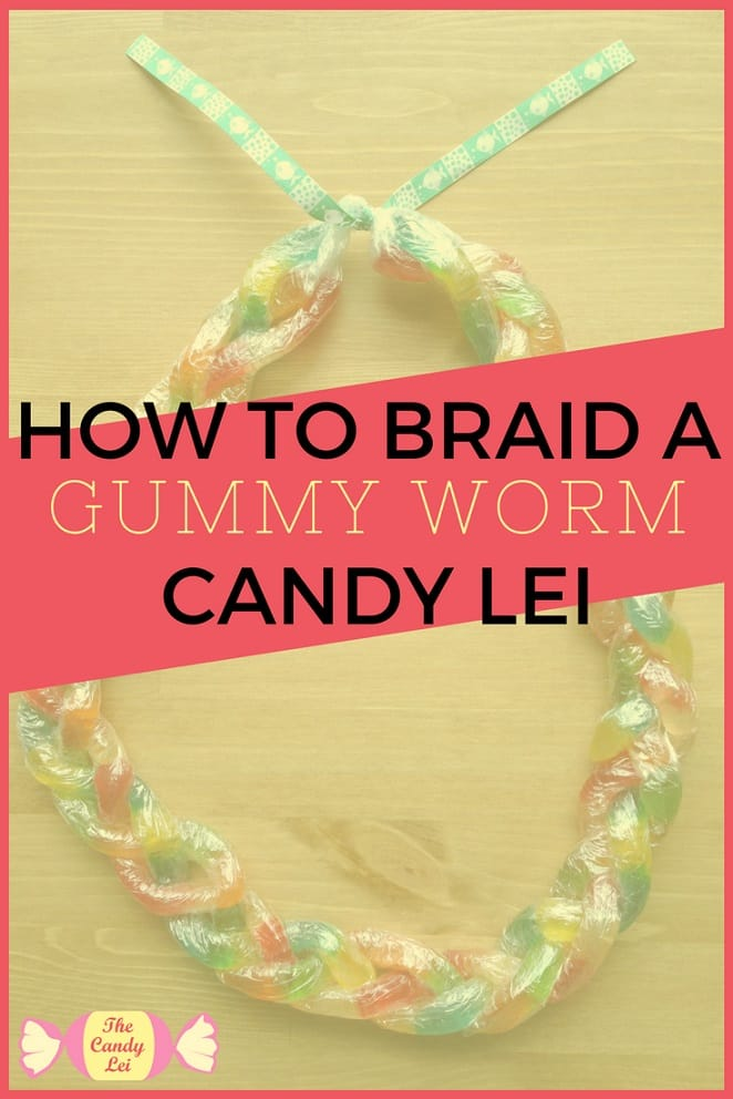 This gummy worm candy lei is perfect for my nephew's graduation.