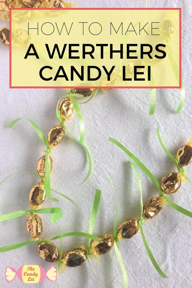 This werthers candy lei is awesome! I'm going to make one of these when my roommate graduates.