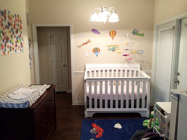 Fitting a nursery in a one bedroom apartment.