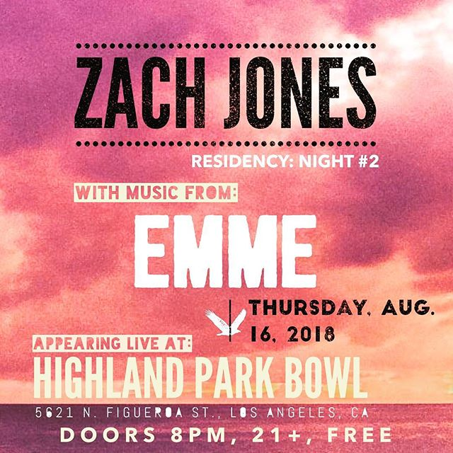 We're doing it again. Thursday, Aug. 16 at @highlandparkbowl with @emmesongs. Join us!