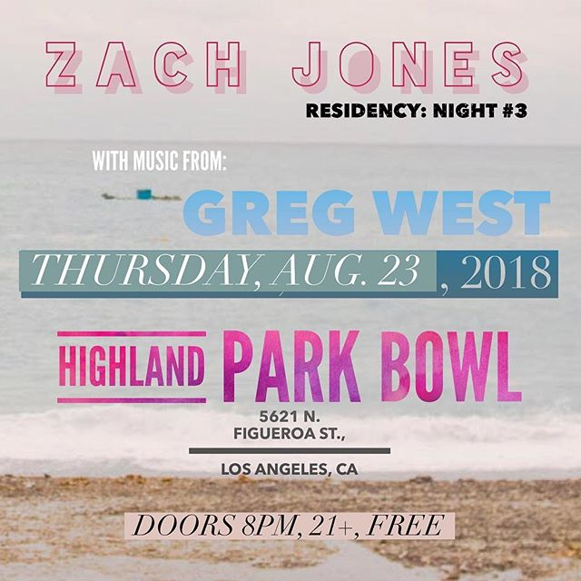 Can't wait to rock the stage at @highlandparkbowl tomorrow night, with additional music from my man @gregorybwest. FREE. 9pm. See you there.