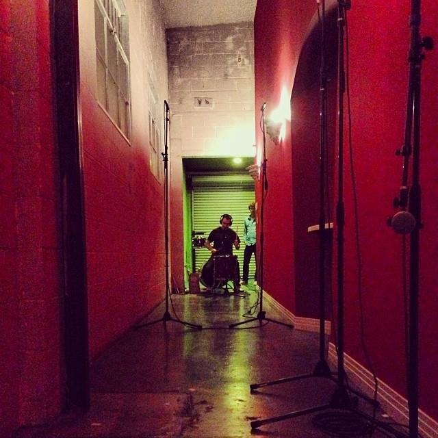 Hallway drumming