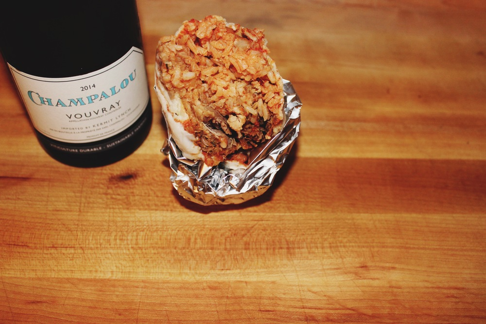 burrito and wine pairing