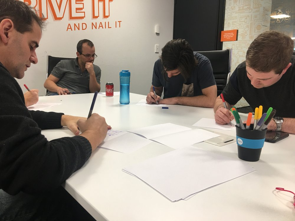 Running a  Design Loop –  a session for non-designers to generate ideas, potential solutions or areas to look at for the problem