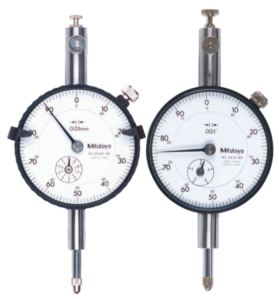 Series 2 dial indicators are Mitutoyo's most popular, and have the widest application.