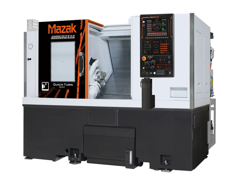 "MAzak QT150M: 2-axis 8"" chuck cnc lathe with milling function"