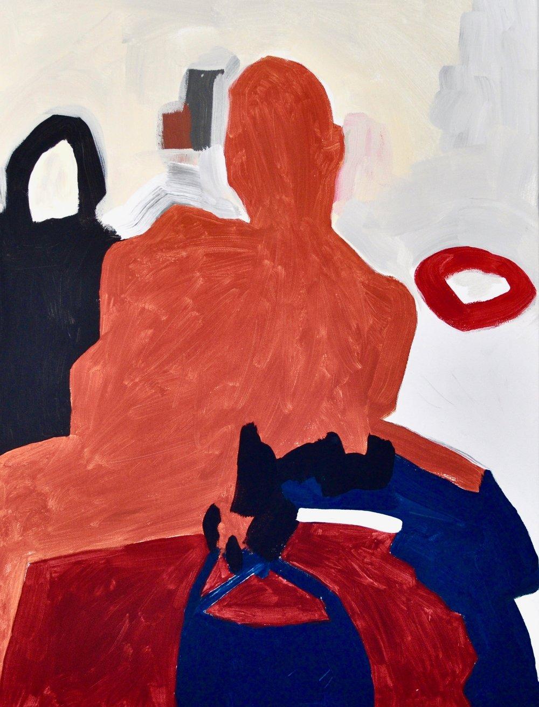 Untitled Orange Figure (2017)