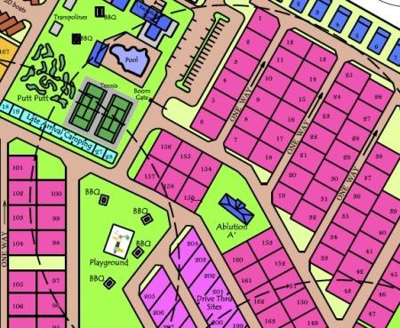 Typical caravan park site layout