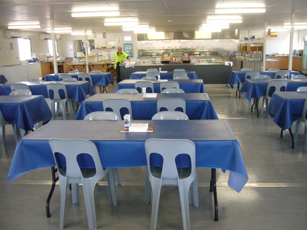Typical Construction Camp and Mining Camp Dining Room